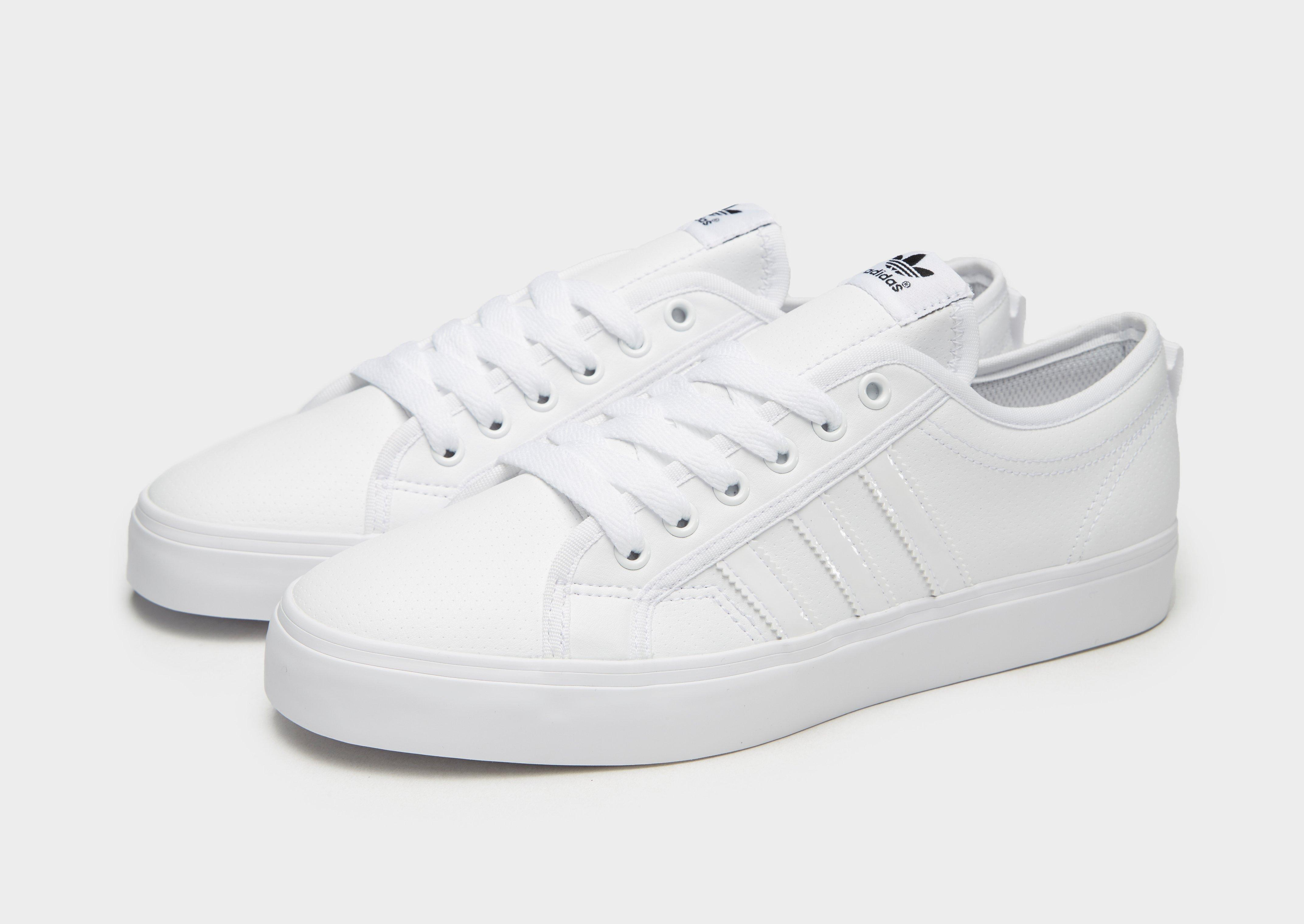 adidas nizza sneakers basses mixte adulte blanc footwear white