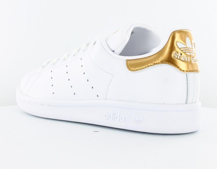 adidas stan smith blanc dore