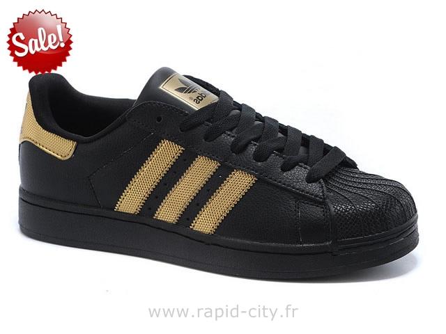 adidas superstar noir et or
